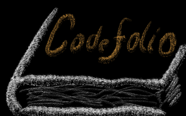 The Codefol.io logo on a book cover.